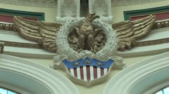 RWC Court House Wall Eagle Stock Footage