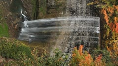 Autumn waterfall. Vertical. Stock Footage