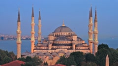 From Blue Mosque to Hagia Sophia Stock Footage