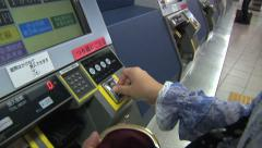 Ticket Machine at Tokyo Station Stock Footage