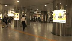 Hall of Train Station - Zoom Out - Japan Stock Footage