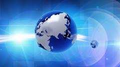 Earth global news Stock Footage