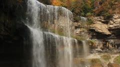 Two tiered waterfall. - stock footage