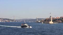 Sailing in Bosphorus Sea Stock Footage