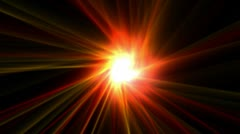 Power rays laser and fire in super space,dazzling god spirit light,energy tech Stock Footage