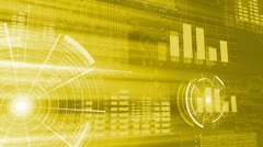 Technology Background Yellow - stock footage