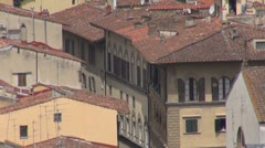Panoramic view of the Florence's roofs, Italy Stock Footage