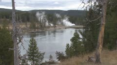 P01730 Yellowstone River in Yellowstone National Park Stock Footage