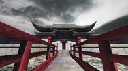 Stock Video Footage of Chinese Building Clouds Timelapse 06