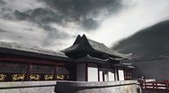 Stock Video Footage of Chinese Building Clouds Timelapse 09