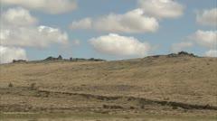 Stock Video Footage of Rocky Dartmoor Tor in Summer