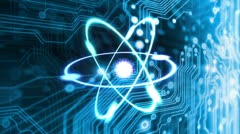 Technology Atom - stock footage