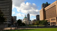 Timelapse of courthouse in St. Louis Stock Footage