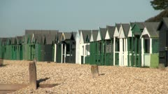 Lee on Solent Beach Huts Stock Footage