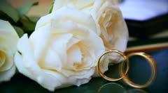 Marriage, Wedding rings Stock Footage