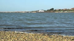 View Towards Hill Head Harbour Stock Footage