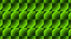 Green rectangle flooring bricks array,grid cloth mosaics tile,building wall mat Stock Footage