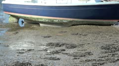 Boat at Low Tide - stock footage