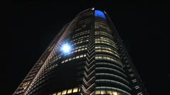 Roppongi Hills - Building 2 - Blue Light Stock Footage