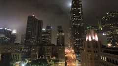 Down Town Los Angeles Pershing Square time lapse Stock Footage