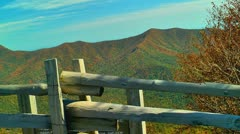 fence and autumn mountains - stock footage