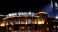 Busch Stadium in St. Louis Missouri Stock Footage