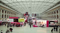 Panorama of XVII International Festival World of Beauty 2010 Stock Footage