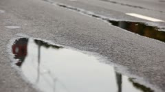 Man legs run on wet asphalt one by one at XXX Moscow International Peace - stock footage