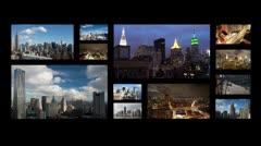 New york NYC manhattan videowall Stock Footage