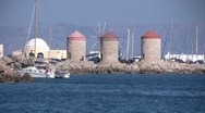 Greece - Rhodes - Windmills Stock Footage