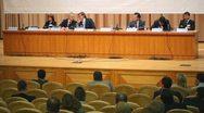 Presidium of first annual Financial Forum Russias financial system Stock Footage