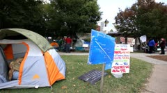 St. Louis version of Occupy Wallstreet. Stock Footage