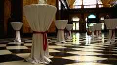 Wiesbaden casino hall Hessen Germany Stock Footage