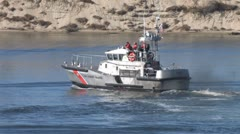 Coast Guard Boat Stock Footage