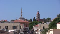 Greece - Rhodes city Stock Footage