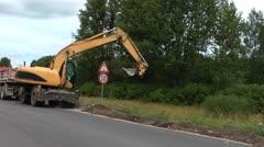 HD - Roadworks. Excavator Stock Footage