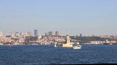 Istanbul, Kiz Kulesi - stock footage