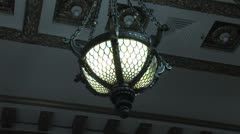 Courtroom Light Fixture Stock Footage