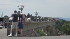 Tourists in Florence, Italy Stock Footage