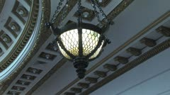 Courtroom Light Fixture3 Stock Footage
