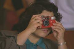 Tourist taking photo Stock Footage