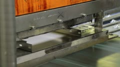 94 Robot cuts metal sheet automatically Stock Footage