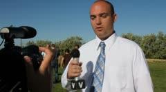 News crew Stock Footage