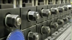 96 Bolts turn on manufacture Stock Footage