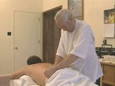 Stock Video Footage of Close up of masseur's face