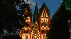 Cathedral Dom in Limburg Hessen Stock Footage