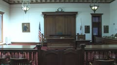 Stock Video Footage of Courtroom shot WA