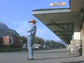 Stock Video Footage of Man standing at station
