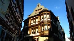 Limburg timbered houses Hessen Germany Stock Footage