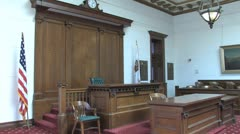 Courtroom the bench Stock Footage
